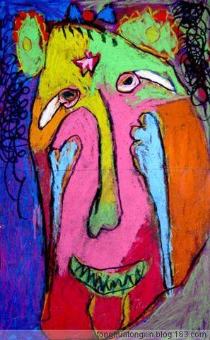 童画童心08秋季启蒙B-1美术活动8——万圣节的鬼脸派对 - 童画-童心儿童美术 - 童画-童心儿童美术