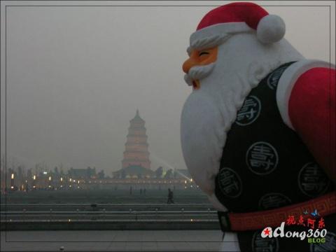 [摄影●报道] 特色!着唐装的圣诞老人 - 视点阿东 - 视点阿东