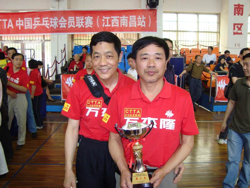 福州晋安乒协俱乐部队荣获2008全国乒乓球会员联赛50岁组男子团体赛第三名 - 爱上乒乓 - 爱上乒乓网网易博客