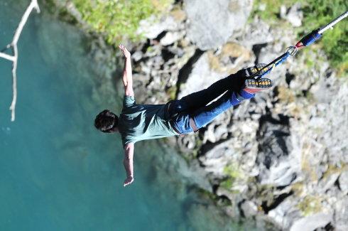 在新西兰蹦极 体验生命的自由 - 陆川 - 陆川的博客