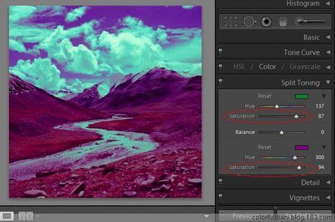 LR利用分割色调达到负片反冲的效果 - colorfuldiary - ColorfulDiary