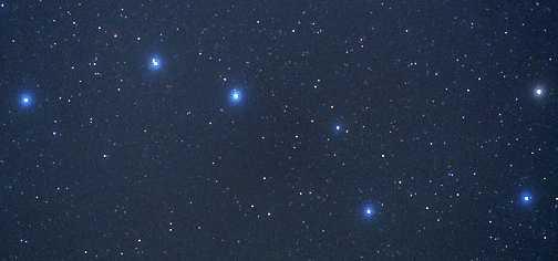 """北斗七星"""",我马上往车窗外望去,好亮啊!在浩瀚的夜空中,赫然出高清图片"""