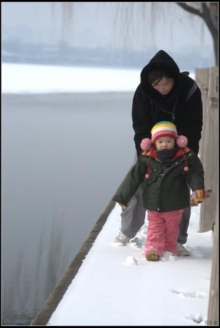 后海雪后 - 贝贝的爸妈 - 贝贝的爸妈