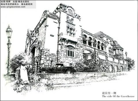 建筑和风景的钢笔画图片