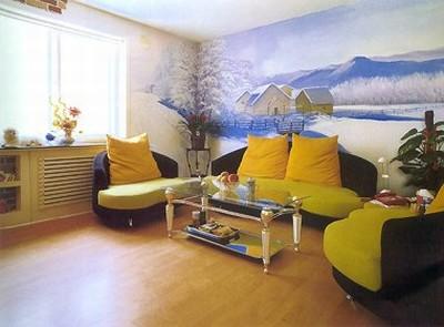 手绘电视墙墙绘图片