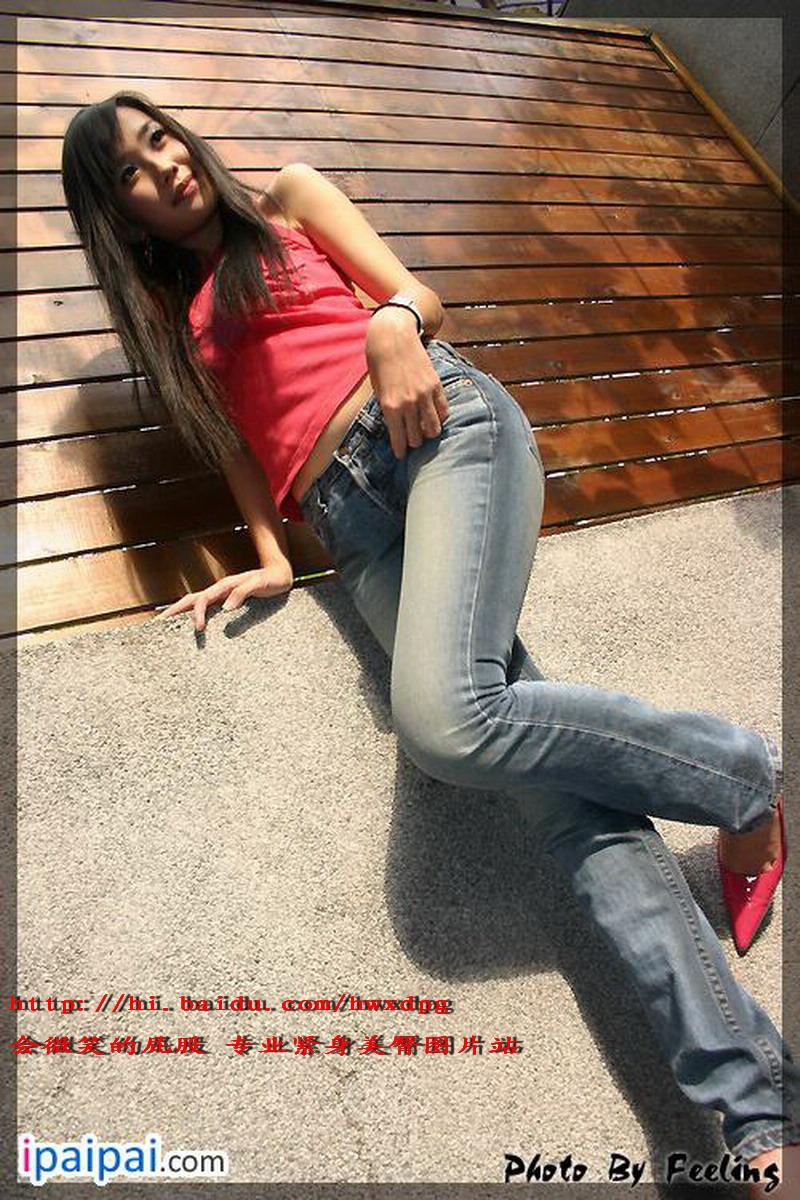 漂亮清纯的红衣牛仔裤MM  - 源源 - djun.007 的博客