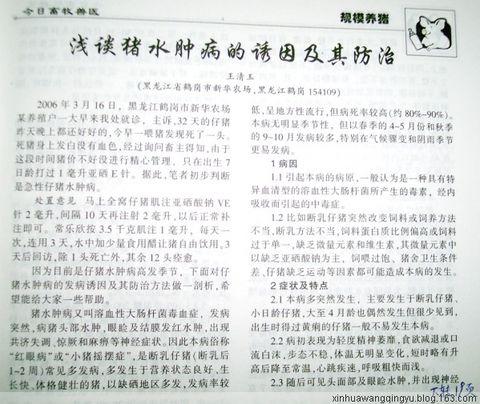 原创:我发表的杂志图片 - 非著名兽医王清玉 - 非著名兽医王清玉博客
