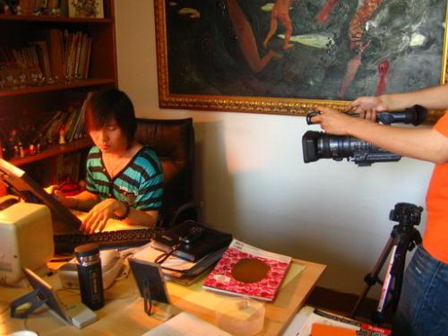 北京电视台动画频道卡酷采访宋洋 - waitany8 - 宋洋的漫画世界