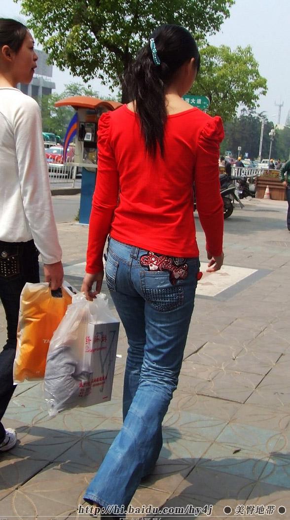 红衣蓝牛翘臀少妇  - 源源 - djun.007 的博客