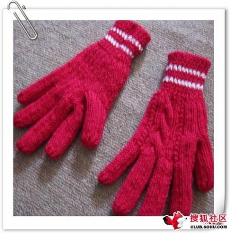 五指手套(加了织法说明)