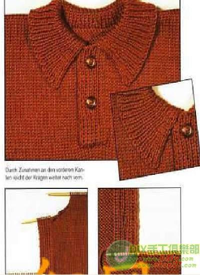 十四种衣领的编织方法 - 飞雪扬花 - 飞雪扬花