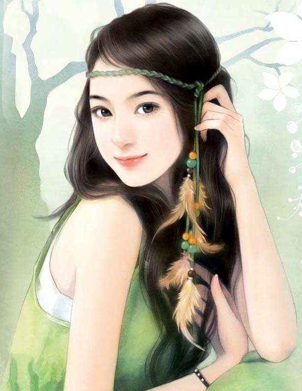 手绘现代女画(二)