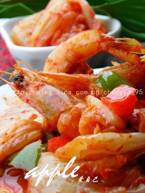 相见恨晚---最下饭的虾吃法:韩味泡菜炒虾*15道下饭菜 - 可可西里 - 可可西里