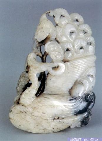 难得一见和田玉雕组件---和田玉雕鉴赏 - 老排长 - 老排长(6660409)