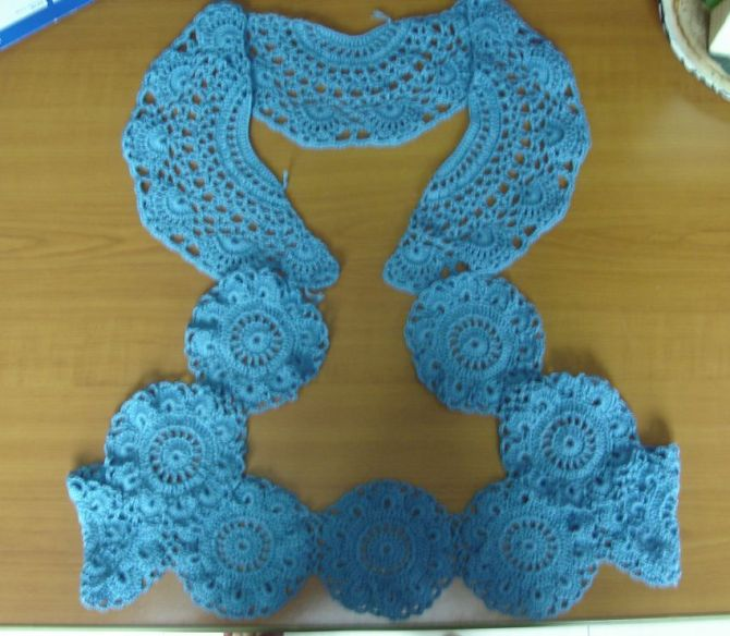 卫星姐姐作品--蓝色坎肩 - 梅兰竹菊 - 梅兰竹菊的博客
