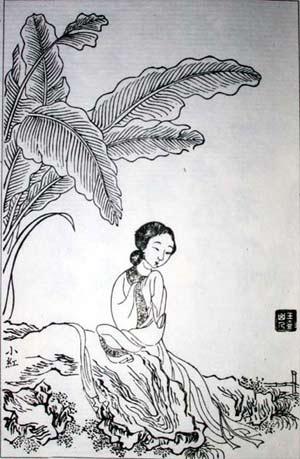 《红楼梦》绝美木刻版插画 - 小学五年级 - 会笑的蜻蜓