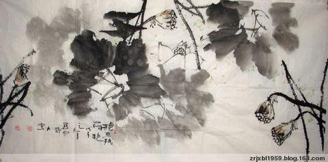 【原创】墨荷组图 - 关中醉人 - 徐保林花鸟画