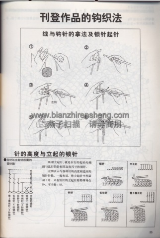 [多图]钩针编织圆型桌布(有图解)