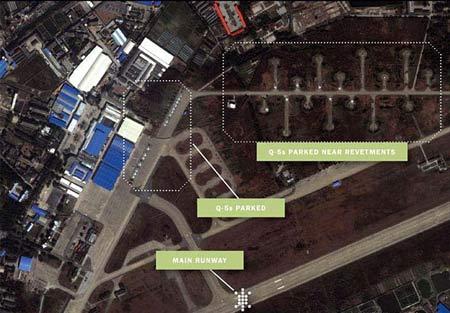 资料图片:美国商业卫星拍摄到的中国军用机场图片