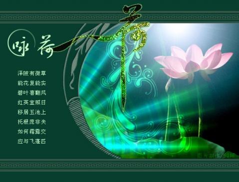 诗情画意:(626)咏荷 - 流星客 - 流星客随笔