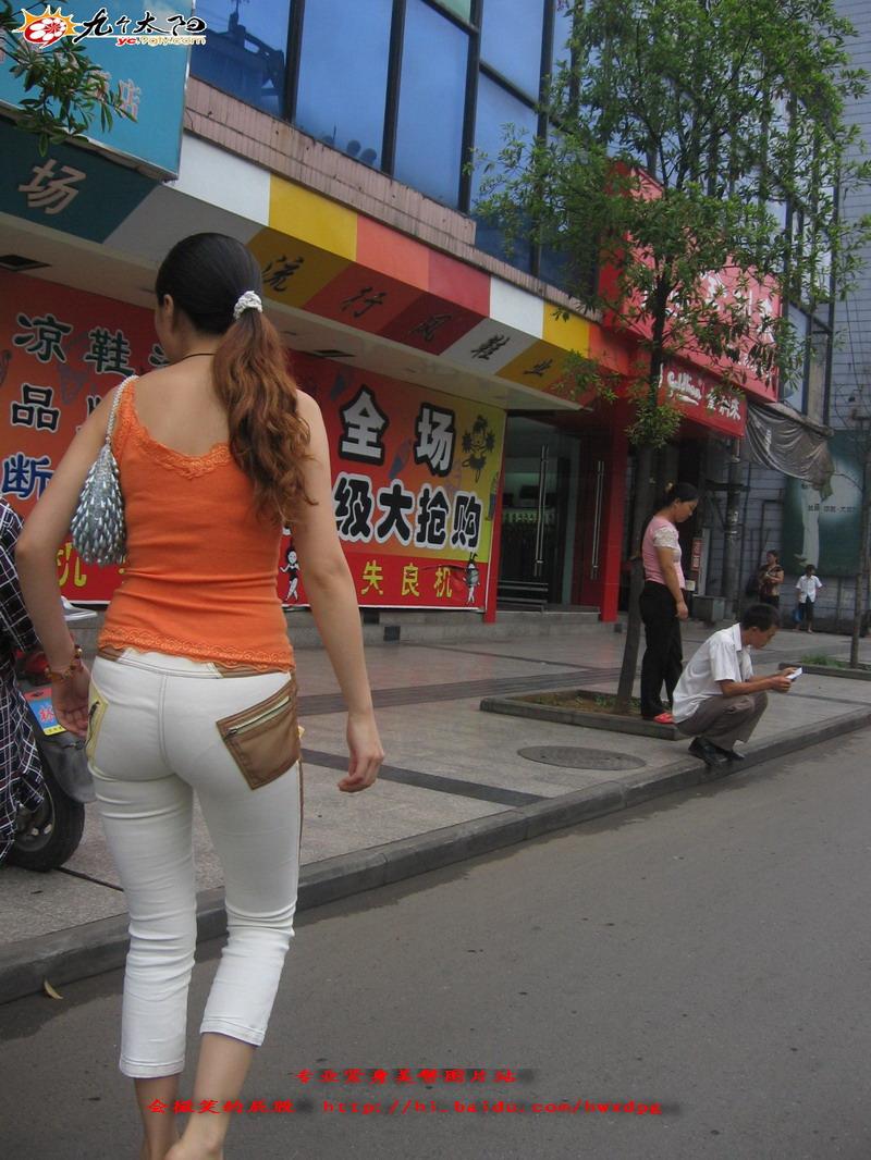 红色性感上衣白色紧身裤美臀 - 源源 - djun.007 的博客