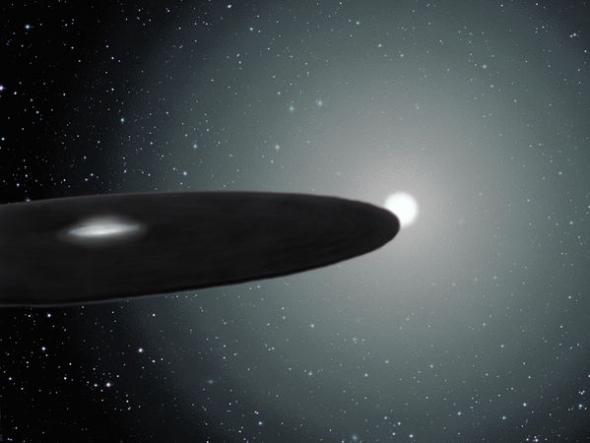 画家的想象图,神秘天体状如飞盘。