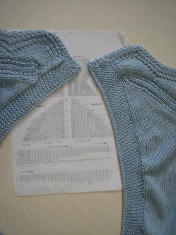 【引用】藍織葱 - 9月10日完成, 11日添了披肩 - 闹闹腾腾 - 闹闹腾腾的博客