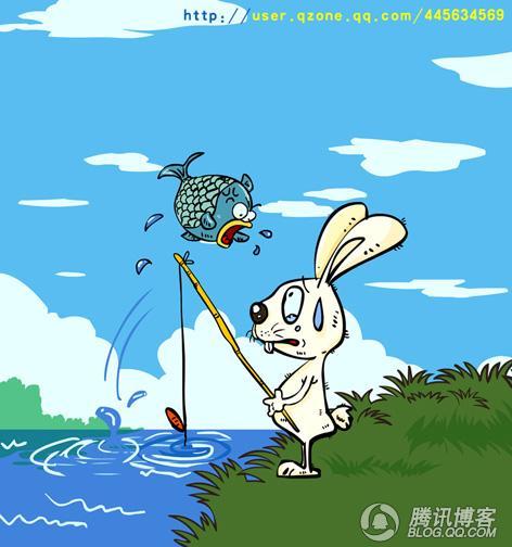 兔子拿东西卡通