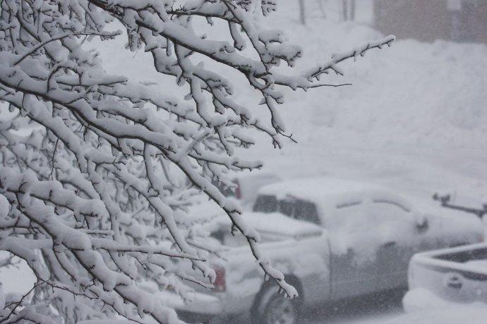 实拍美东地区2011年第一场导致全城放假的暴风雪