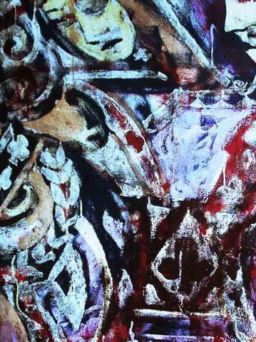 《有王前来》全图--我的油画 - 会笑的蜻蜓 - 会笑的蜻蜓