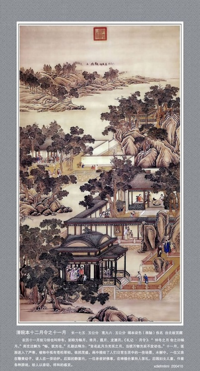 [转载] 《清院十二月令图轴 》和《唐诗意境七图》 - 陈迅工 - 杂家文苑