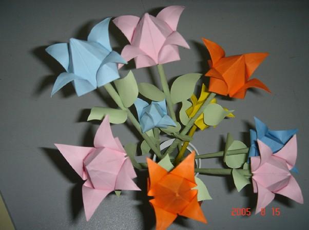 引用 纸花折法 - 竹风拂心 - 王晴天