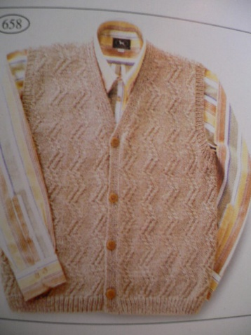 【引用】[棒针整书]男士毛衣编织实例图三