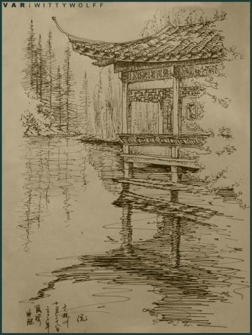 苏州园林钢笔画 - fuyang65