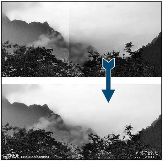 PS快速实现角度不同的两图对接实例  - 玫瑰夫人 - .