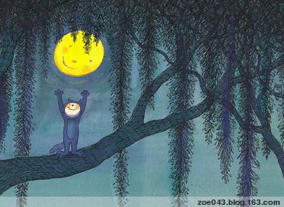 【几米漫画】月亮忘记了