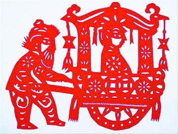 胡哥的剪纸作品《回娘家》内有深意[图] - tianworld - 天下之至柔,驰骋天下之至坚