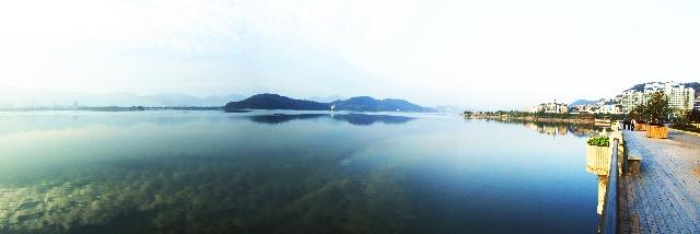 远望磁湖,宛若海上仙山