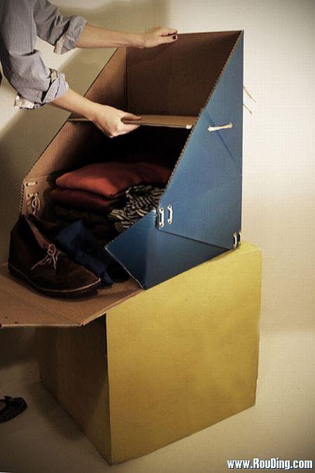 厚纸板手工制作多用途行李箱 - 何泛泛 - 何泛泛|IT独唱团