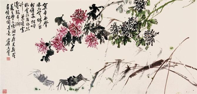 王个簃的中国画 - 髯书之歌 - 髯書之歌 de 書畫天地