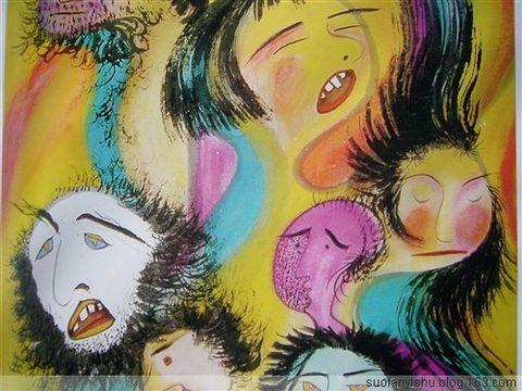 索凡抽象画作品欣赏 毕加索的思考