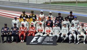 今年F1参赛车手全家福