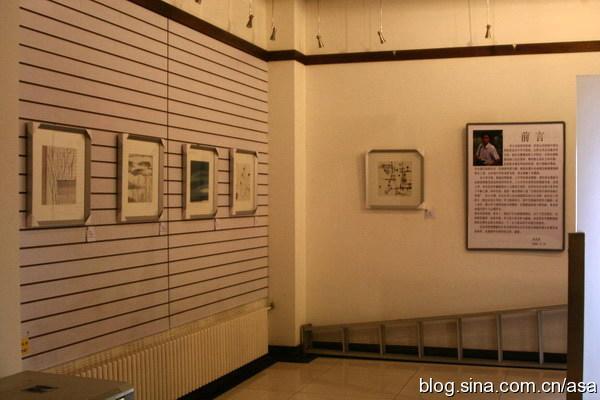 同事在社区艺术馆办了个水墨画展 - 懒蛇阿沙 - 懒蛇阿沙的博客