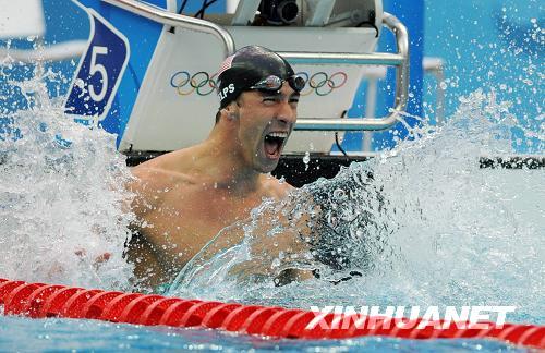 男子100米蝶泳 菲尔普斯惊险夺得第7金