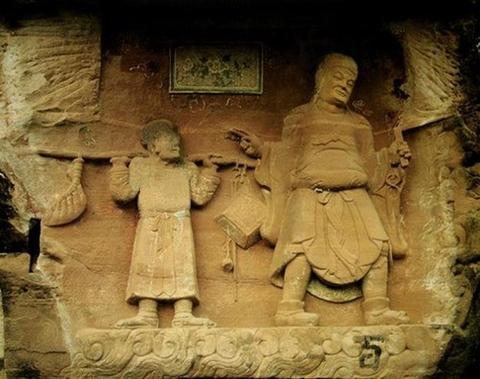 中国石刻佛像之美欣赏 五 大足石刻图片