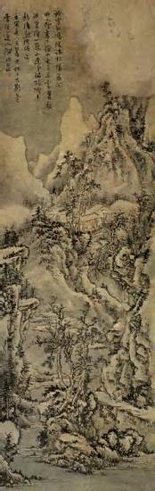 清髡残-《松岩楼阁图》等五幅 - 随风而至 - 读书与人生——众妙之门