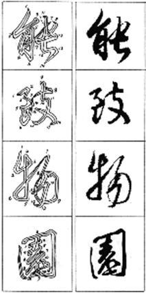 第六章 行书基本结构法 行书的结 在行书笔画练习有了一定基础后,