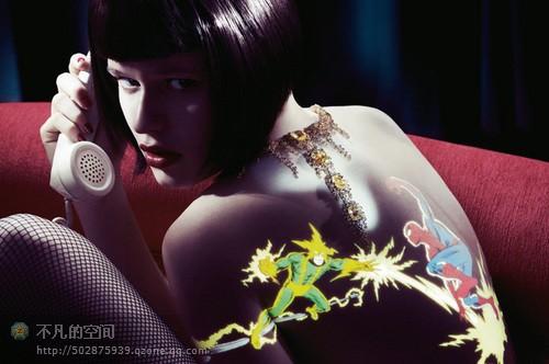 刺青艺术!纯光学人体彩绘[组图] - 雨落心弦 - 了梦无痕