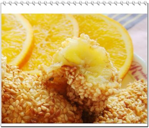 [甜点]芝麻香蕉(原创) - 玉池桃红 - 玉池桃红的博客