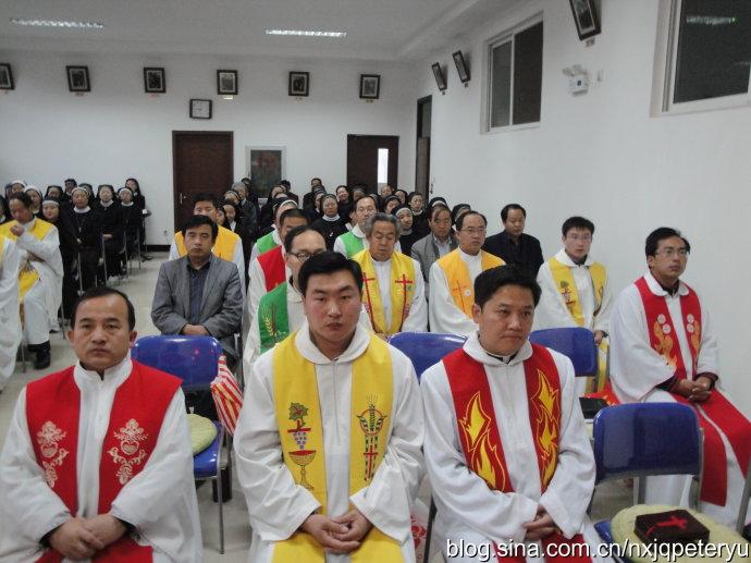 陕甘宁三教区神父举行避静神功